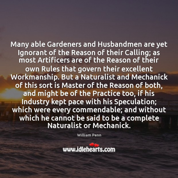 Image, Many able Gardeners and Husbandmen are yet Ignorant of the Reason of