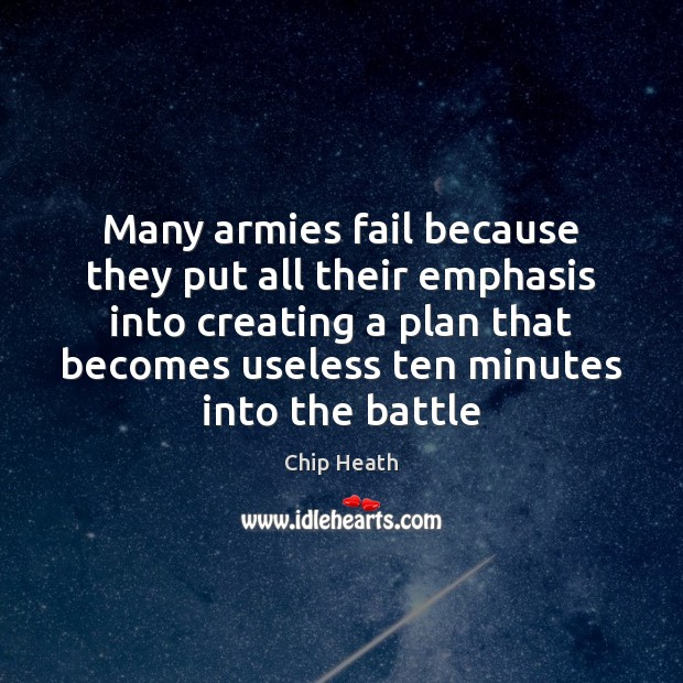 Many armies fail because they put all their emphasis into creating a Image