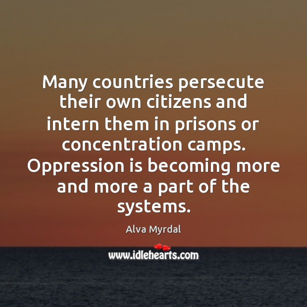 Image, Many countries persecute their own citizens and intern them in prisons or