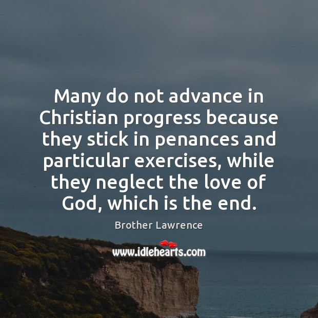 Image, Many do not advance in Christian progress because they stick in penances