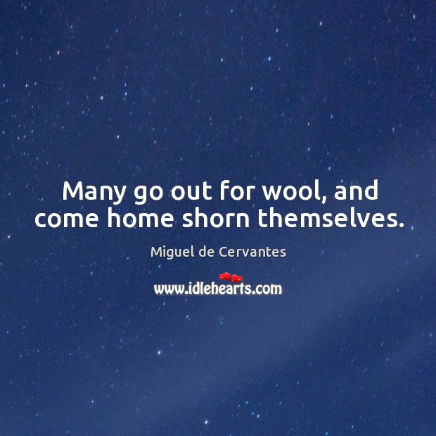 Many go out for wool, and come home shorn themselves. Image