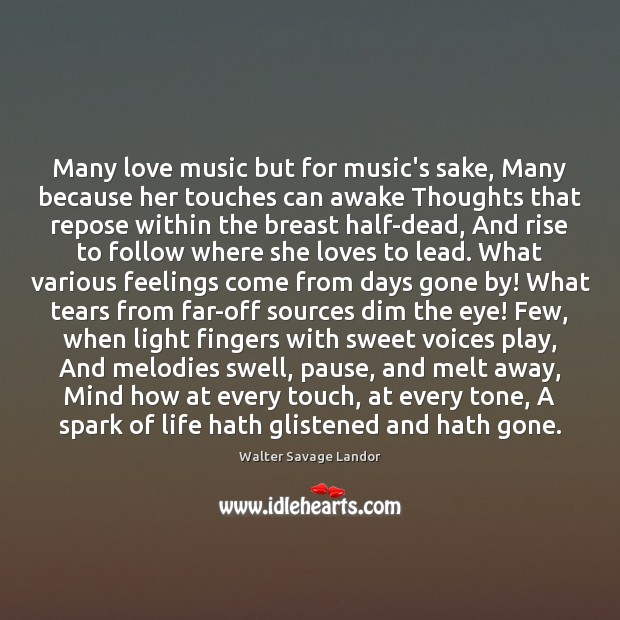 Image, Many love music but for music's sake, Many because her touches can