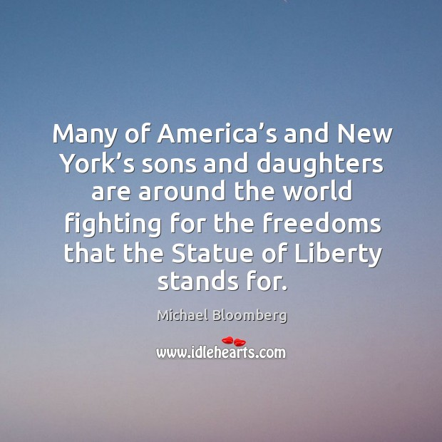 Many of america's and new york's sons and daughters Image