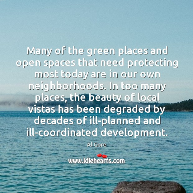 Many of the green places and open spaces that need protecting most Image