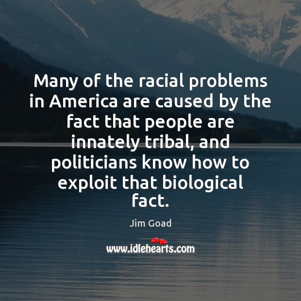 Many of the racial problems in America are caused by the fact Image
