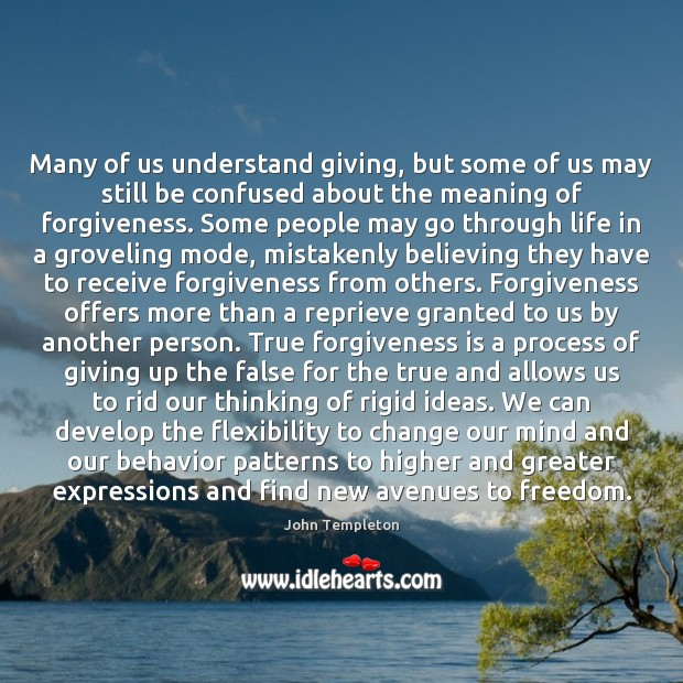 Many of us understand giving, but some of us may still be Image