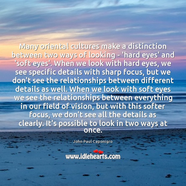 Many oriental cultures make a distinction between two ways of looking – Image