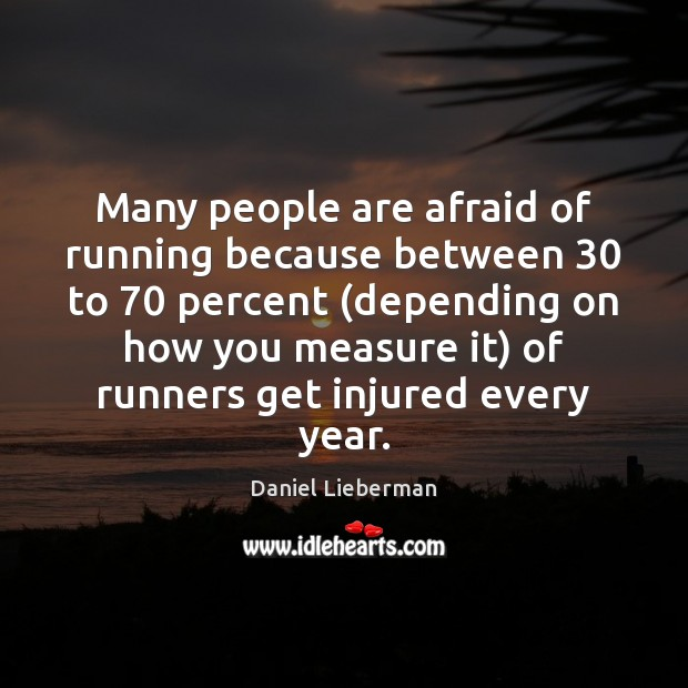 Many people are afraid of running because between 30 to 70 percent (depending on Image
