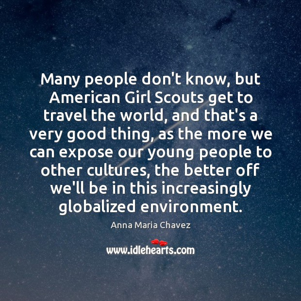 Many people don't know, but American Girl Scouts get to travel the Image