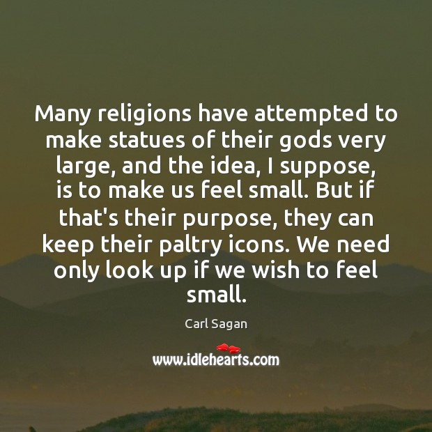 Many religions have attempted to make statues of their Gods very large, Image