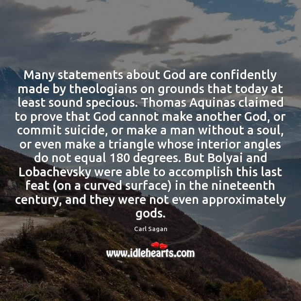 Image, Many statements about God are confidently made by theologians on grounds that