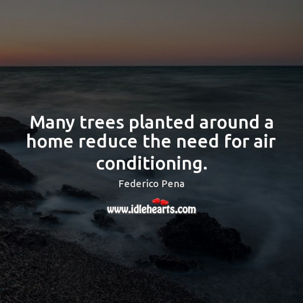 Image, Many trees planted around a home reduce the need for air conditioning.