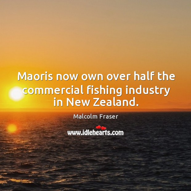 Maoris now own over half the commercial fishing industry in new zealand. Malcolm Fraser Picture Quote