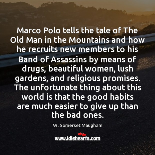 Image, Marco Polo tells the tale of The Old Man in the Mountains