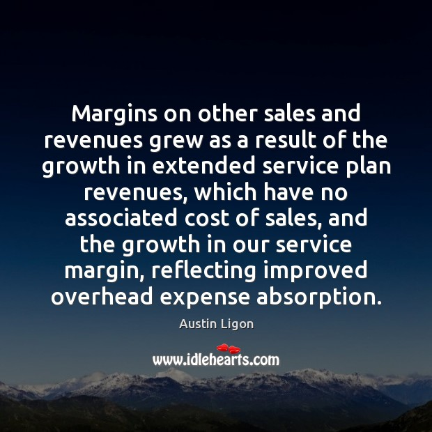 Image, Margins on other sales and revenues grew as a result of the