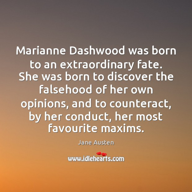 Image, Marianne Dashwood was born to an extraordinary fate. She was born to