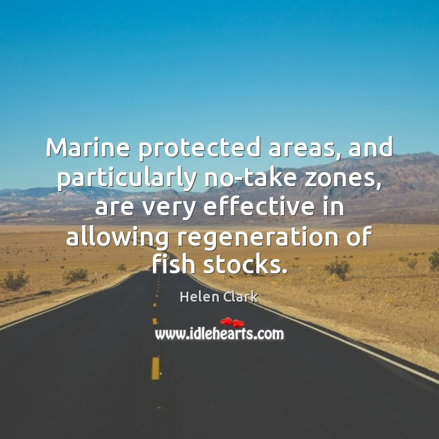 Marine protected areas, and particularly no-take zones, are very effective in allowing Image
