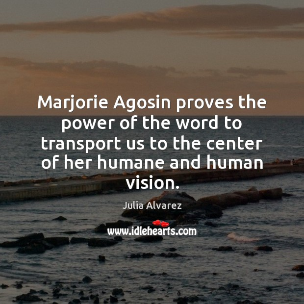 Marjorie Agosin proves the power of the word to transport us to Image