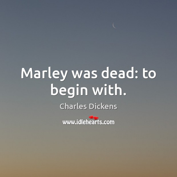 Image, Marley was dead: to begin with.