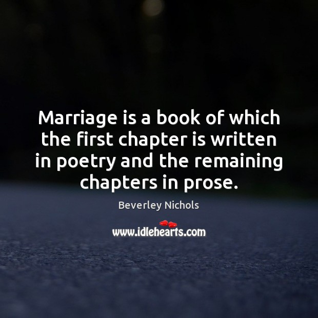 Image, Marriage is a book of which the first chapter is written in