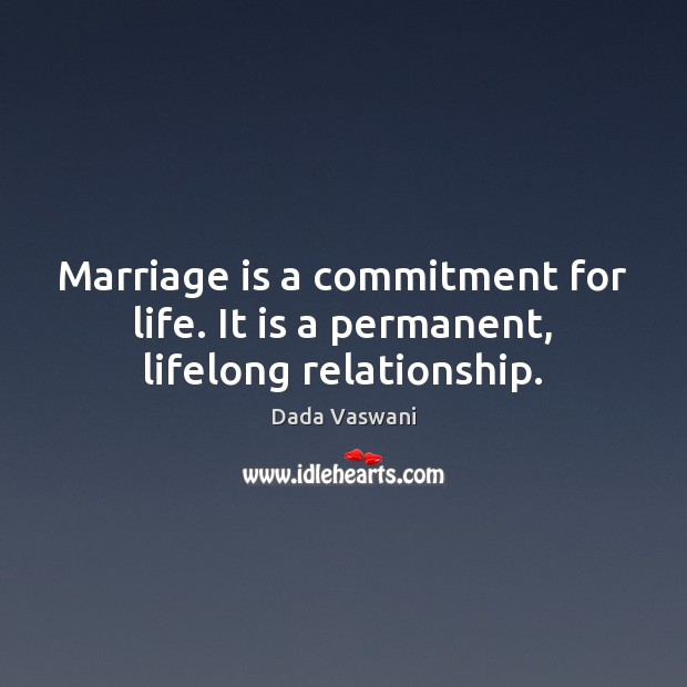 is marriage a lifelong commitment essay
