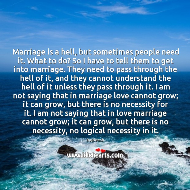 Marriage is a hell, but sometimes people need it. What to do? Image