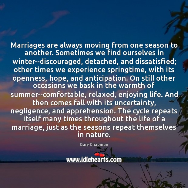 Marriages are always moving from one season to another. Sometimes we find Winter Quotes Image