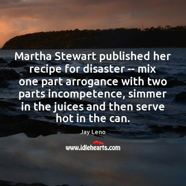 Image, Martha Stewart published her recipe for disaster — mix one part arrogance