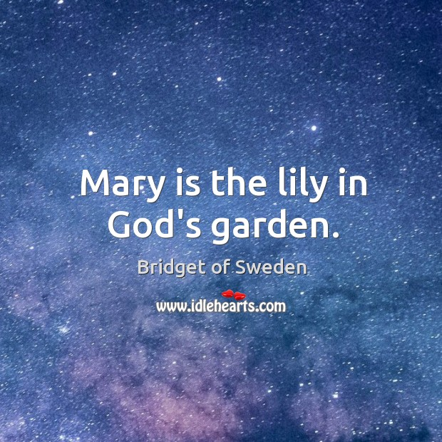 Image, Mary is the lily in God's garden.