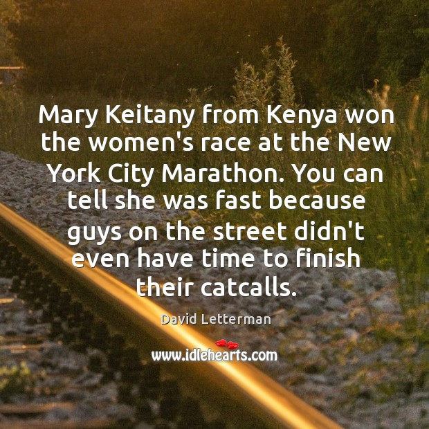 Mary Keitany from Kenya won the women's race at the New York Image