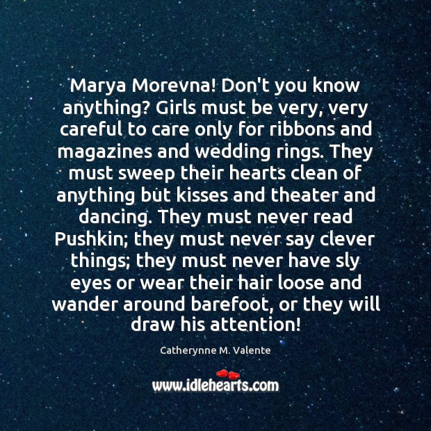 Marya Morevna! Don't you know anything? Girls must be very, very careful Image