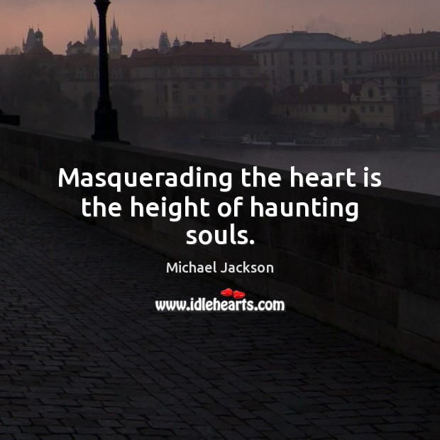 Masquerading the heart is the height of haunting souls. Image