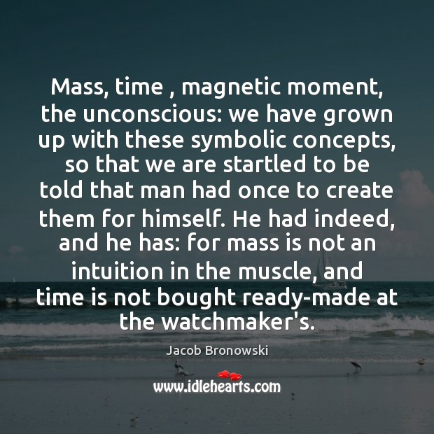 Image, Mass, time , magnetic moment, the unconscious: we have grown up with these