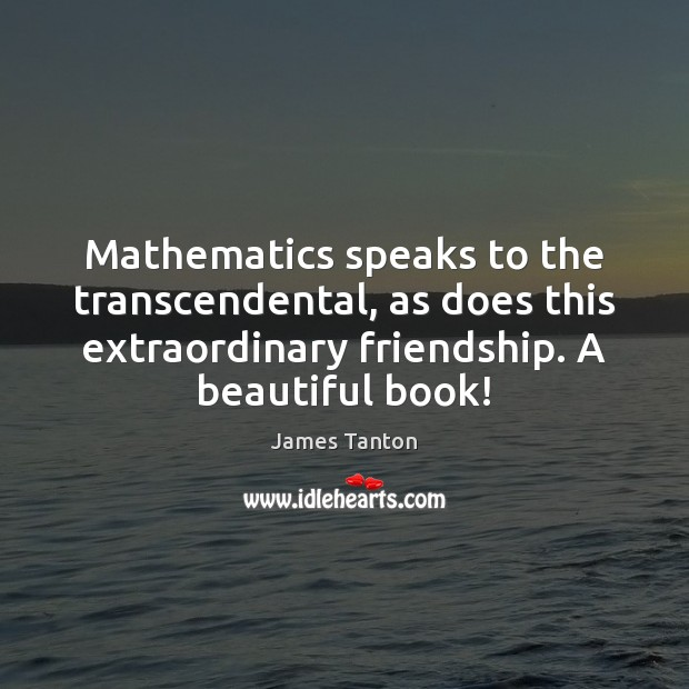 Image, Mathematics speaks to the transcendental, as does this extraordinary friendship. A beautiful