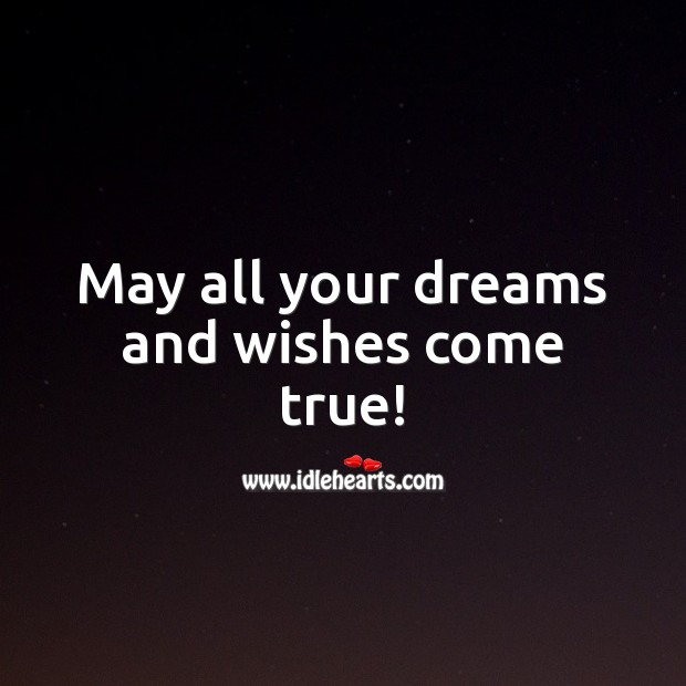 May all your dreams and wishes come true! Happy Birthday Wishes Image