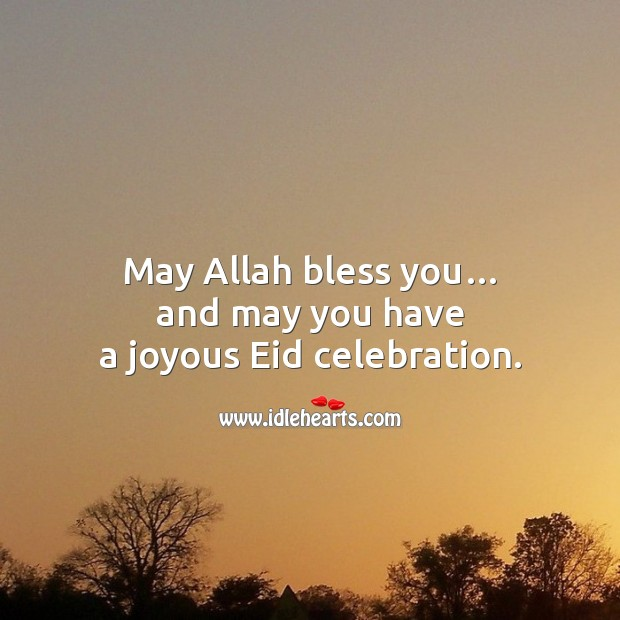 May allah bless you… Eid Messages Image