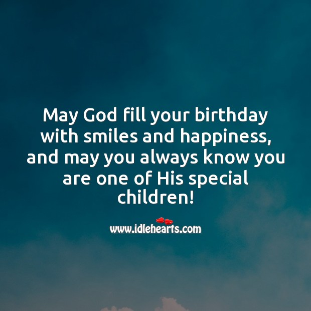 Image, May God fill your birthday with smiles and happiness