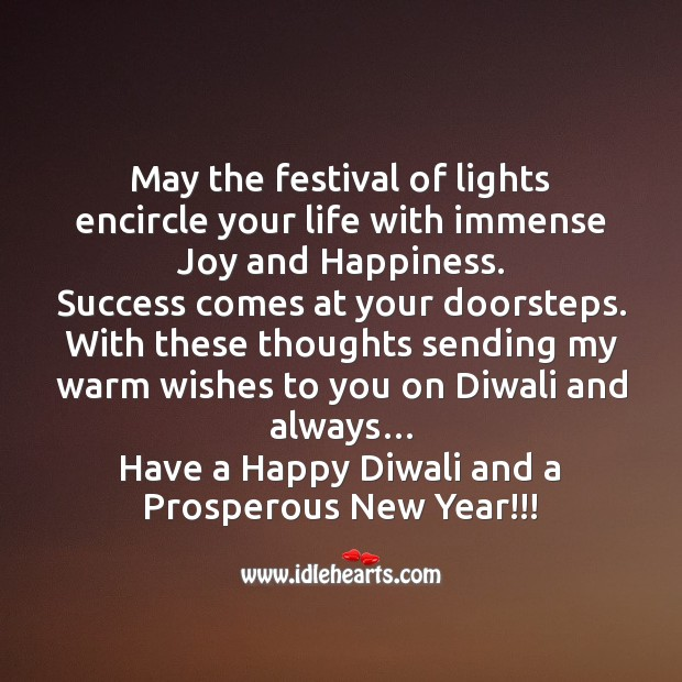 May the festival of lights encircle your life Joy and Happiness Quotes Image