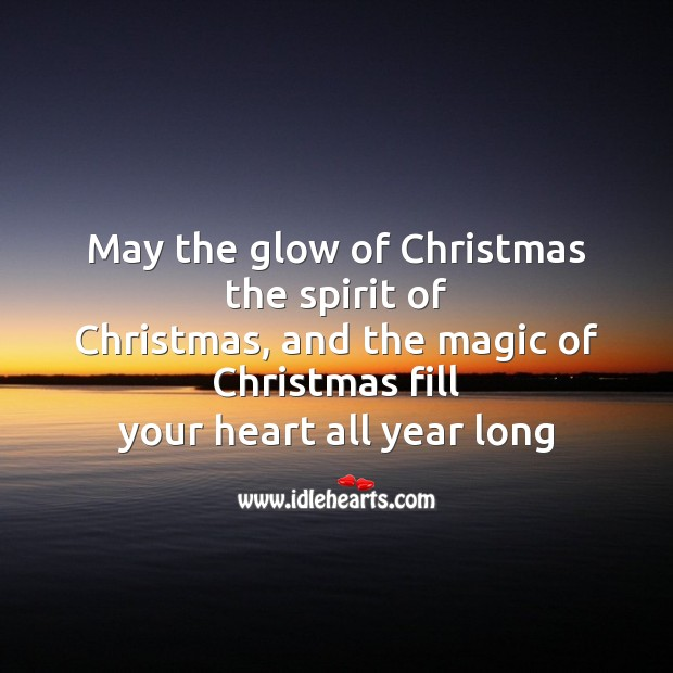 Image, May the glow of christmas the spirit
