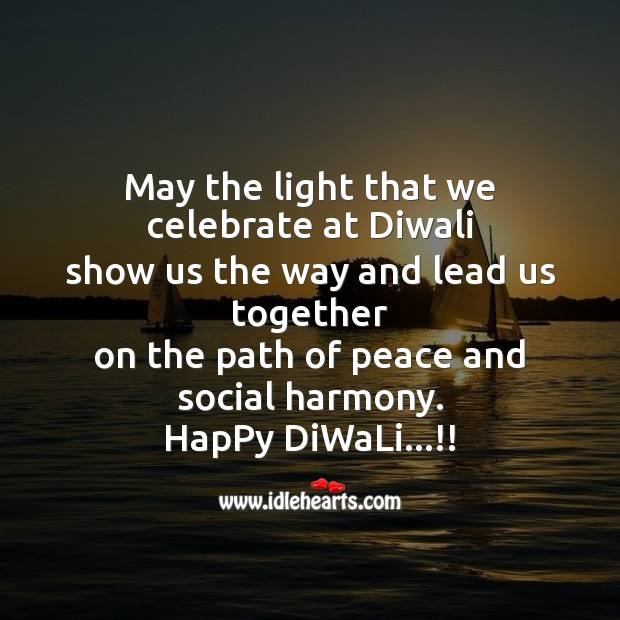 May the light that we celebrate at diwali Diwali Messages Image