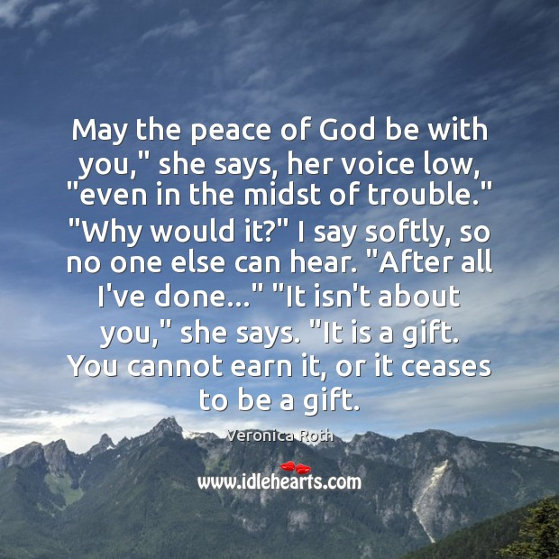 """May the peace of God be with you,"""" she says, her voice Image"""