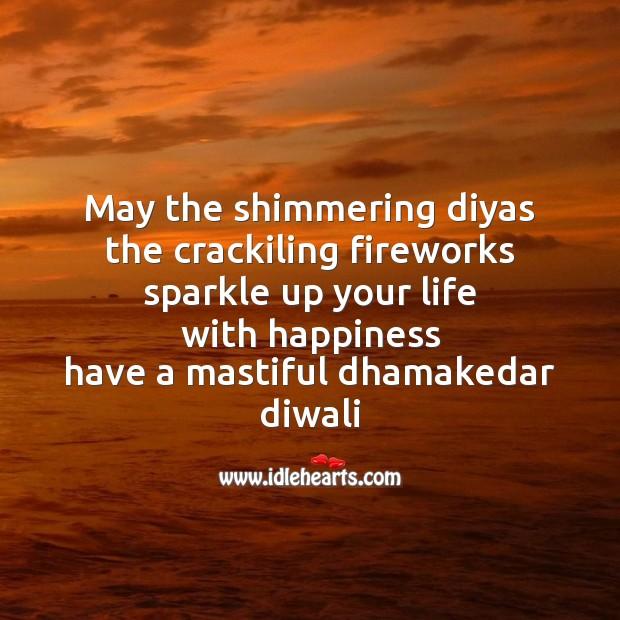 May the shimmering diyas Diwali Messages Image