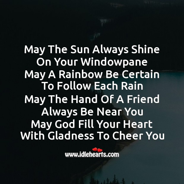 May the sun always shine on your windowpane Friendship Day Messages Image