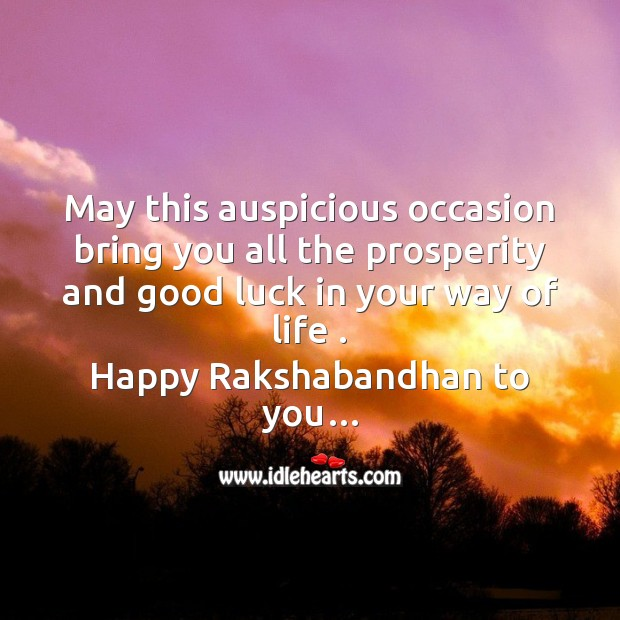 May this auspicious occasion Raksha Bandhan Messages Image