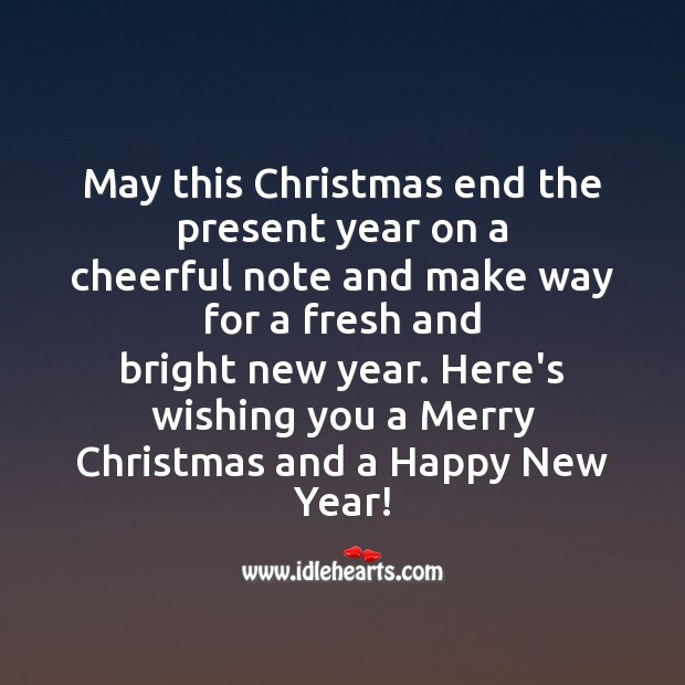 May this christmas end the present year Christmas Messages Image