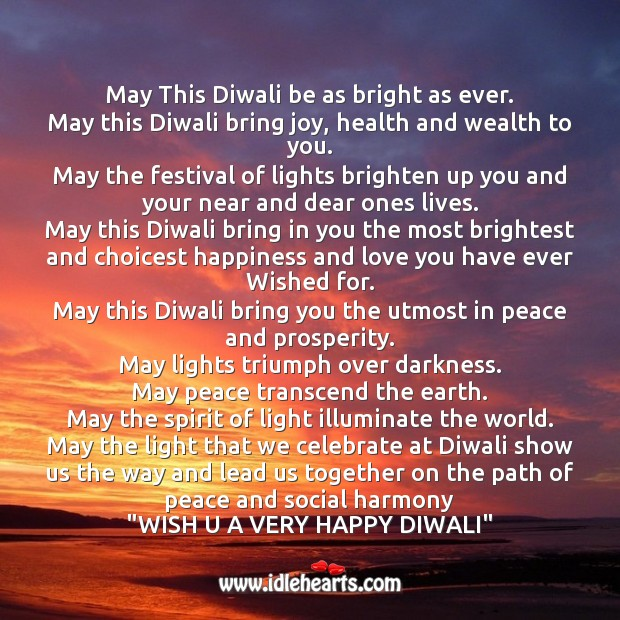 May this diwali be as bright as ever. Diwali Messages Image