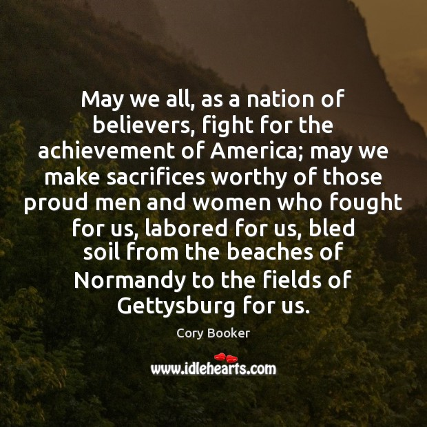 May we all, as a nation of believers, fight for the achievement Image
