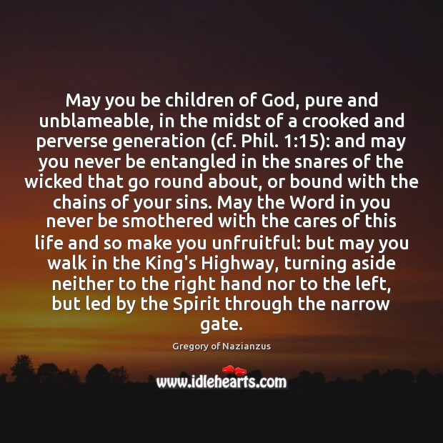 May you be children of God, pure and unblameable, in the midst Image
