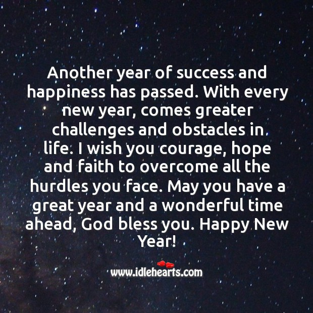 Image, May you have a great year and a wonderful time ahead, God bless you.