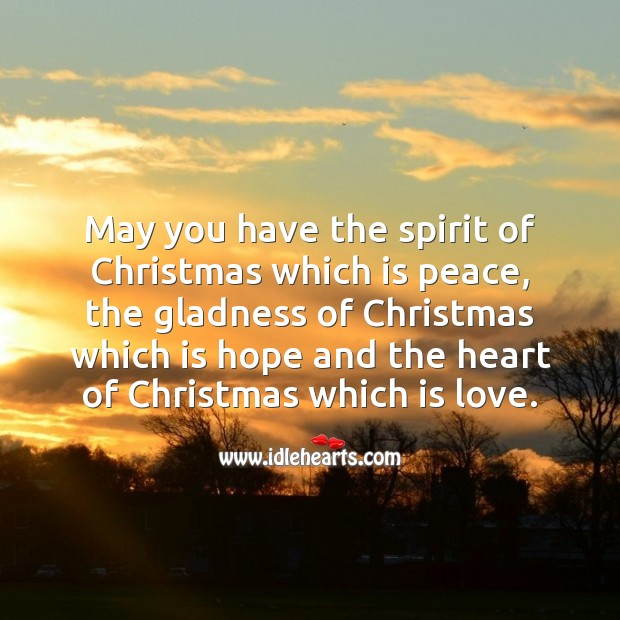Image, May you have the spirit of Christmas